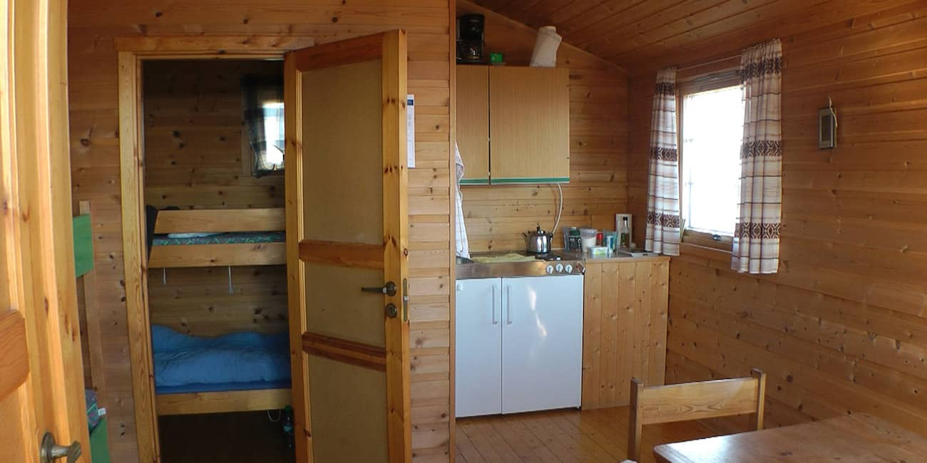 Cabin on the camping ground with 1 bedroom