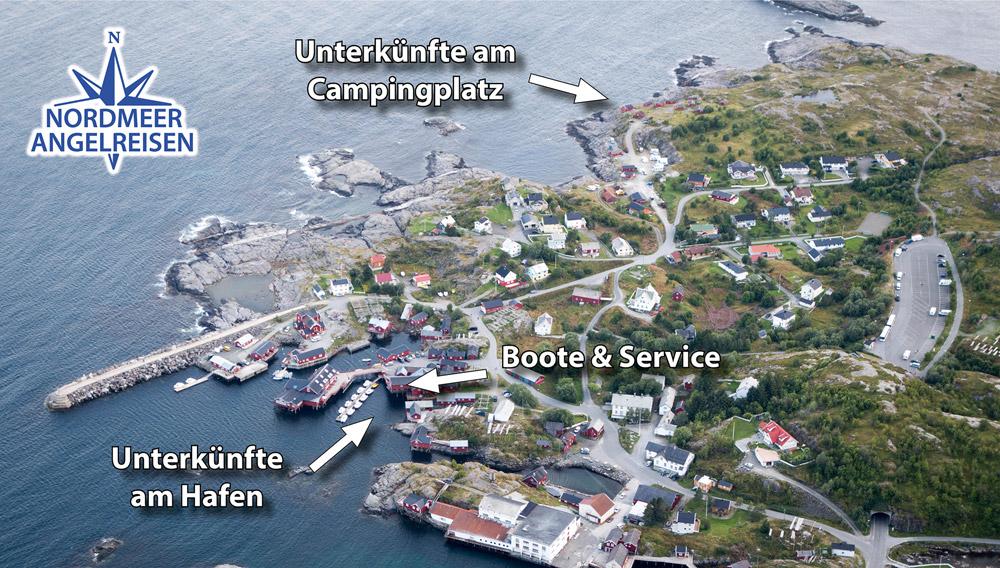 Unterkünfte am Campingplatz in Å / Lofoten
