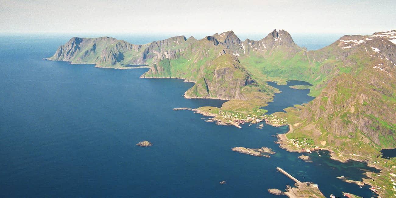 Das Ende der Lofoten-Inselkette: A und Mahlstrom