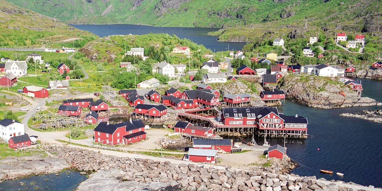 Modern ausgestattete Fischerhütten - norwegisch: Rorbu