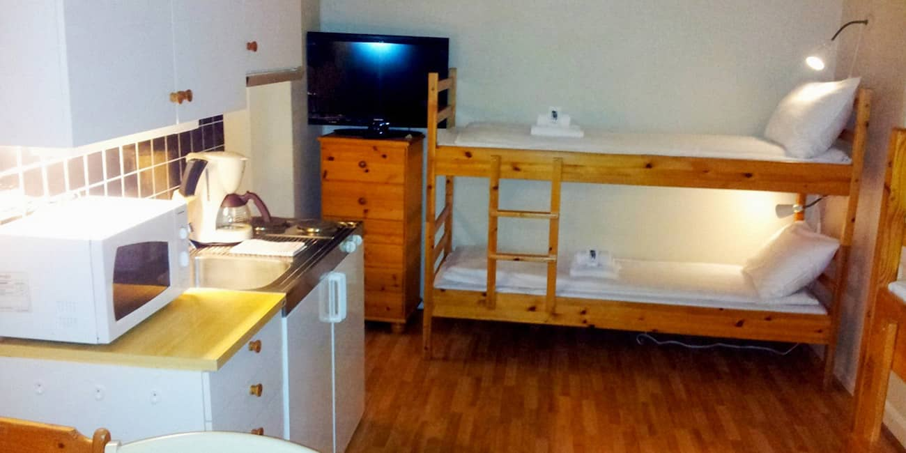 Example: A simple studio for 2 - 4 people is a budget accommodation